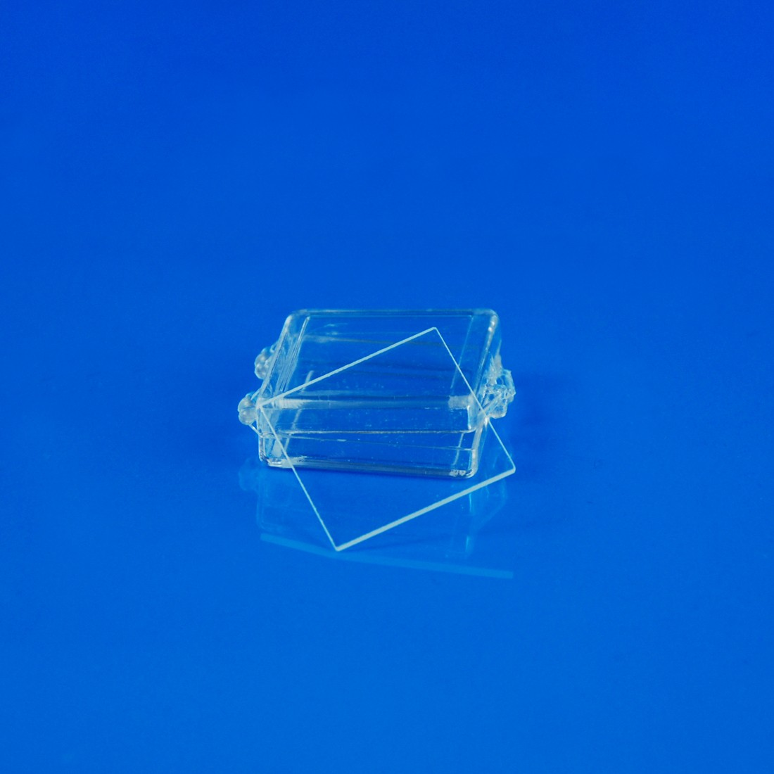 "Quartz Microscope Slide, 1""x1"" (25.4 x 25.4 mm) x 1 mm Thick"