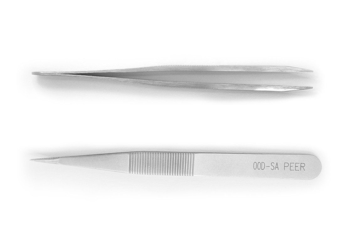 Tweezers, Rubis Sturdy, Strong Pointed, 115mm, 4.5""