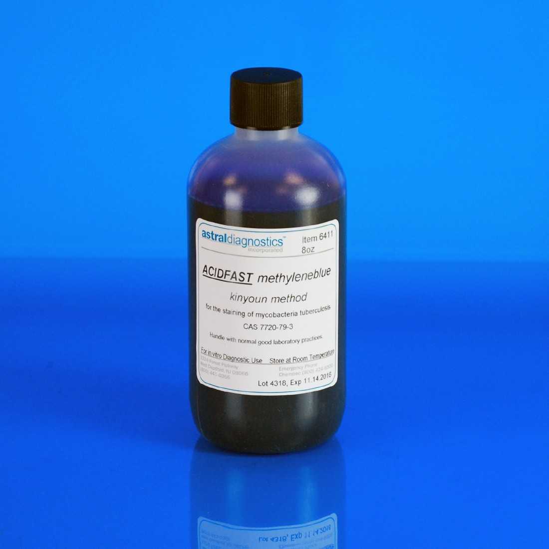 AFB Kinyoun, Methylene Blue 1%