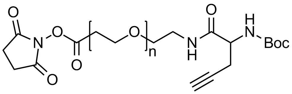 NHS PEG Boc-amine alkyne, Mp 20000