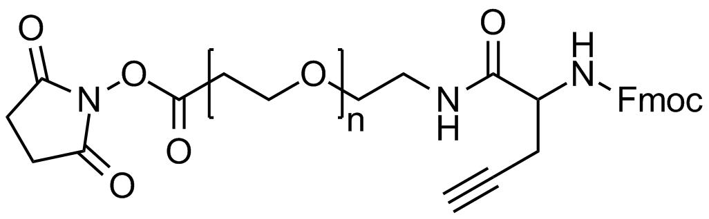 NHS PEG Fmoc-amine alkyne, Mp 3000