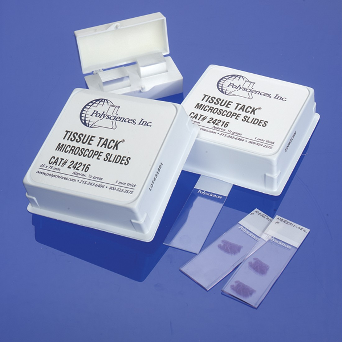 Tissue Tack (+ Charged) Microscope Slides | Polysciences, Inc.
