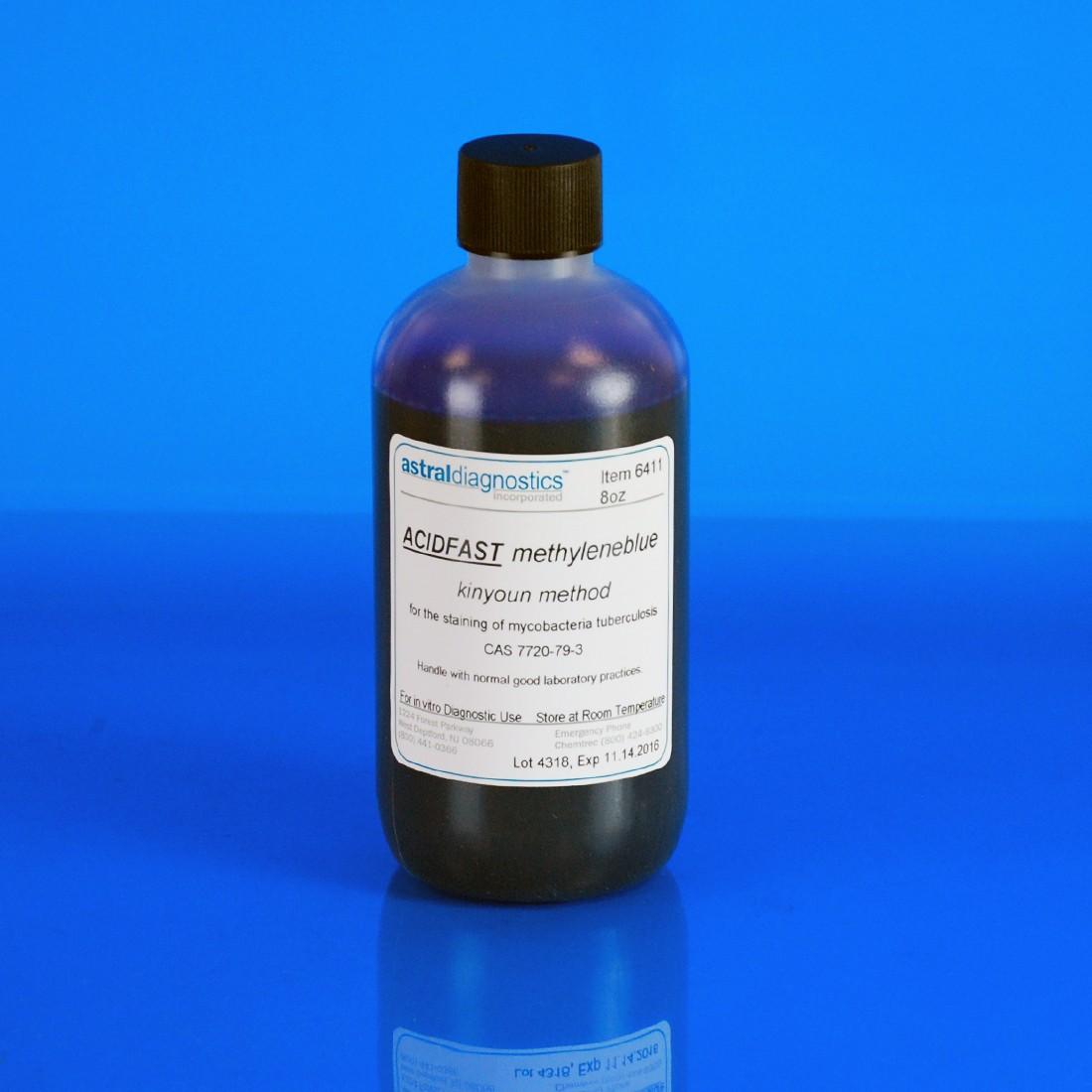 AFB Kinyoun, Methylene Blue 1%