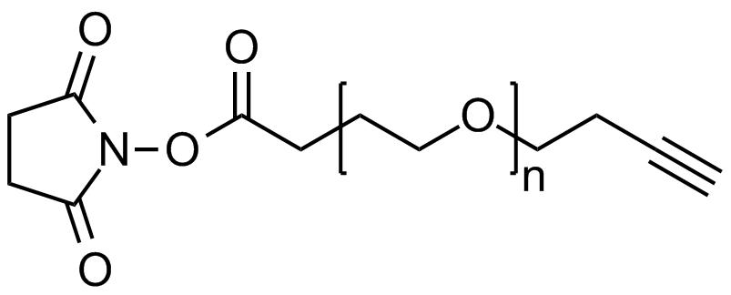 NHS PEG alkyne, Mp 3000