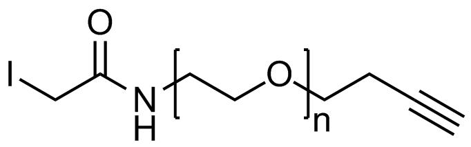 Iodoacetamide PEG alkyne, Mp 3000
