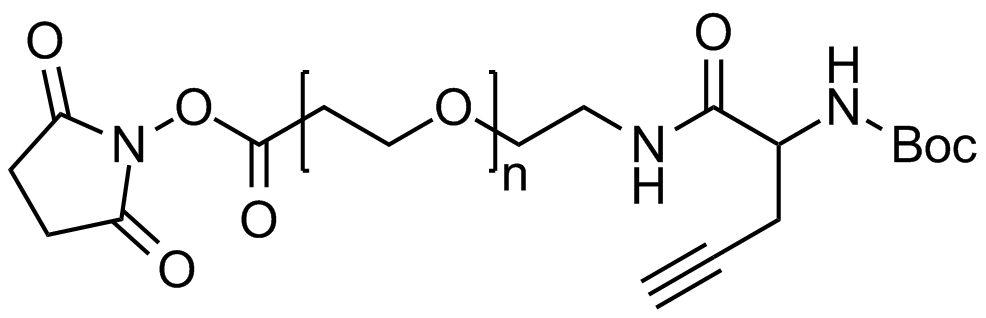 NHS PEG Boc-amine alkyne, Mp 20000