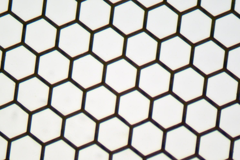 exagonal Mesh Grids - Thin Bar, High Definition - 200mesh