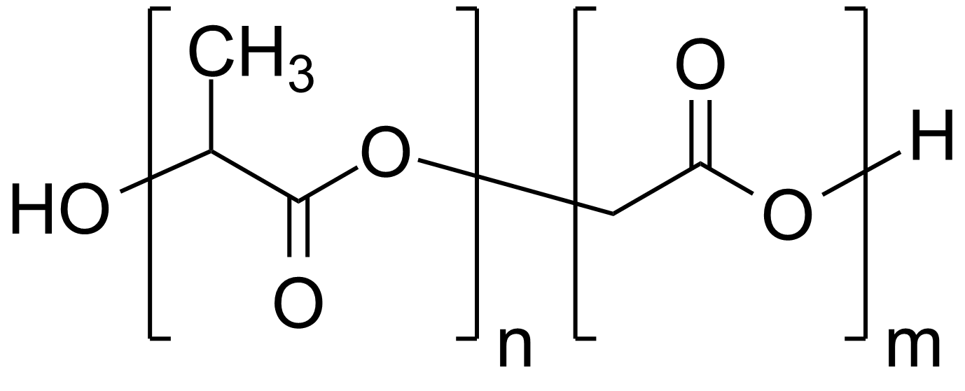 Poly(D,L-lactide-co-glycolide), 50:50, IV 0.4 dl/g, acid-terminated