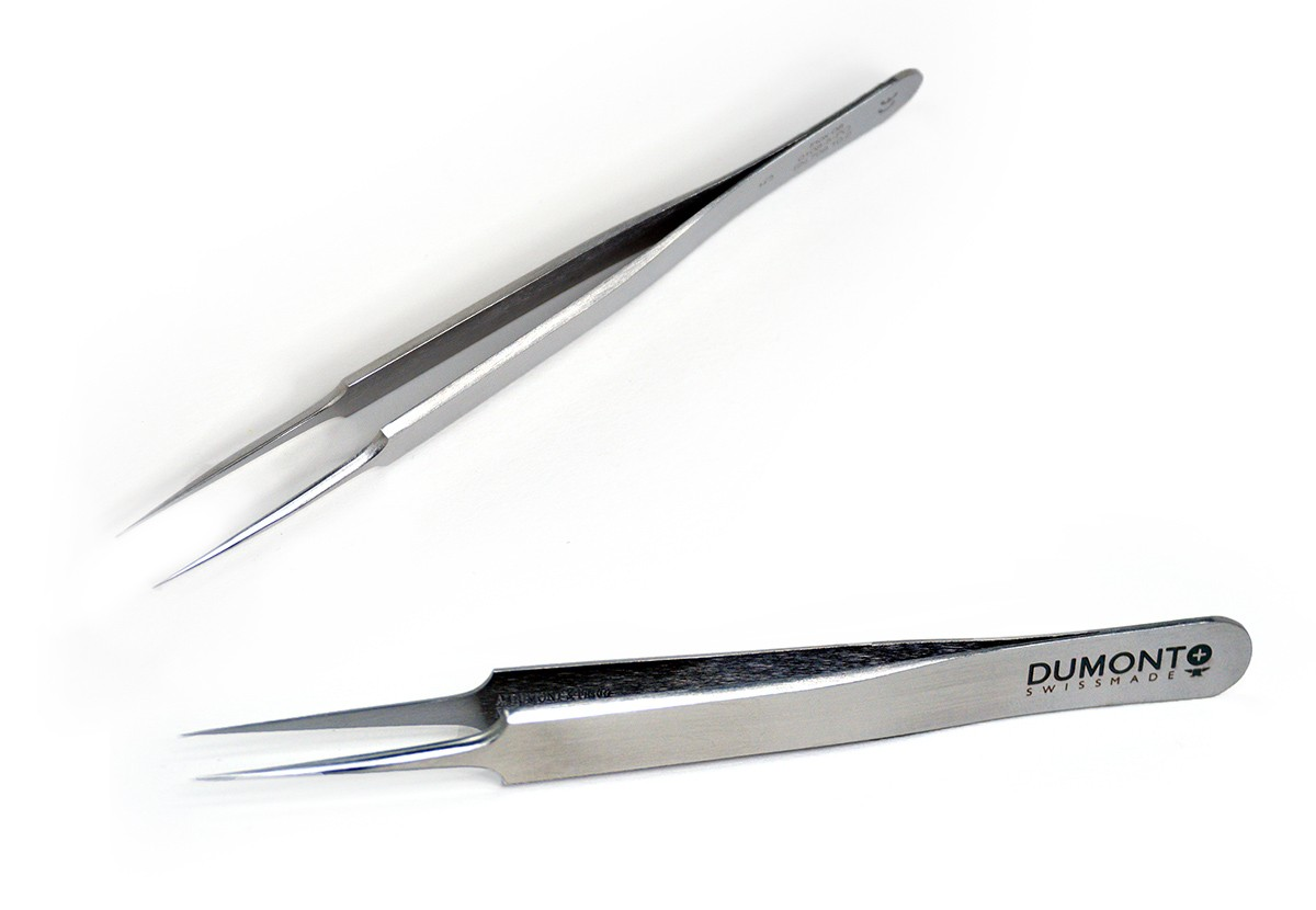 Tweezers, 5 Dumont INOX, Super Thin tips
