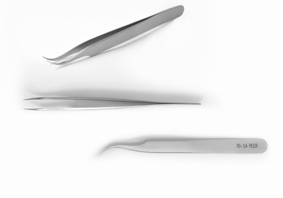 Tweezers, Ultra Fine Pointed Curved, 115mm