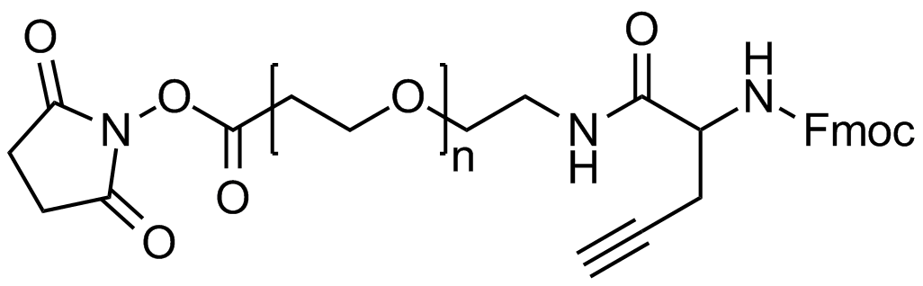 NHS PEG Fmoc-amine alkyne, Mp 20000