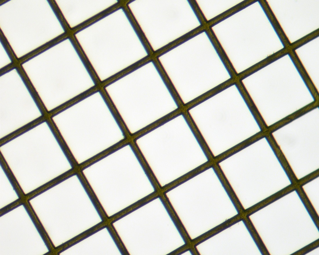 Square Mesh Grids - Thin Bar, High Definition - Gold 200mesh